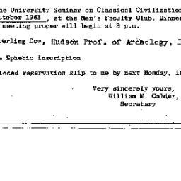 Announcements, 1963-10-17. ...