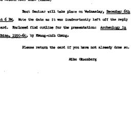 Announcements, 1961-12-06. ...