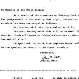 Announcements, 1964-02-27. ...