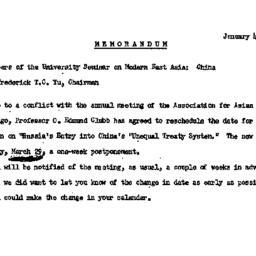 Announcements, 1967-01-04. ...