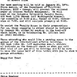 Announcements, 1974-01-21. ...