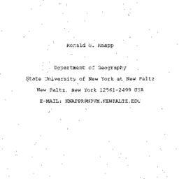 Speaker's paper, 1996-05-09...