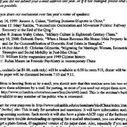 Announcements, 1999-09-01. ...