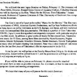 Announcements, 2000-01-18. ...