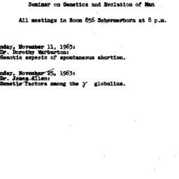 Announcements, 1963-11-11. ...