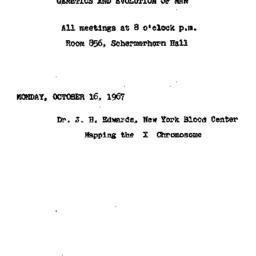 Announcements, 1967-10-16. ...