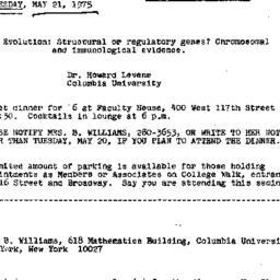Announcements, 1975-05-21. ...