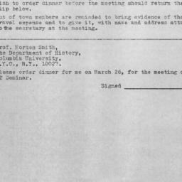 Announcements, 1971-03-26. ...