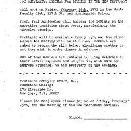Announcements, 1972-02-25. ...