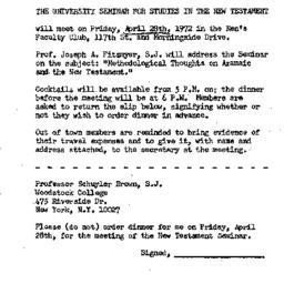 Announcements, 1972-04-28. ...