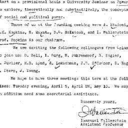 Announcements, 1960-03-14. ...