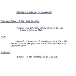 Announcements, 1961-02-14. ...