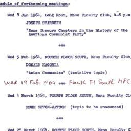 Announcements, 1964-01-08. ...