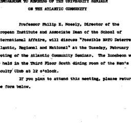 Announcements, 1964-01-28. ...