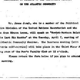 Announcements, 1964-03-23. ...