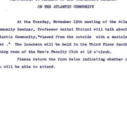 Announcements, 1963-11-13. ...