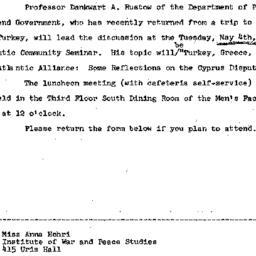 Announcements, 1965-04-22. ...