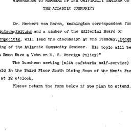 Announcements, 1965-11-23. ...