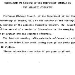 Announcements, 1967-03-15. ...