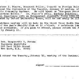 Announcements, 1970-12-18. ...