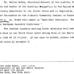 Announcements, 1971-10-27. ...