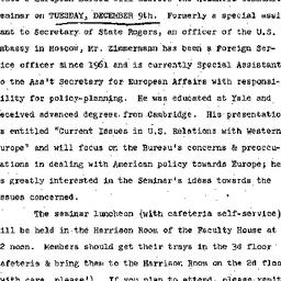 Announcements, 1975-12-09. ...