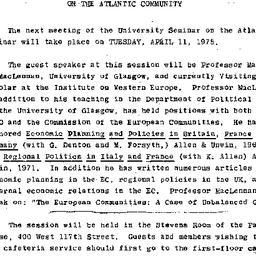 Announcements, 1977-04-11. ...