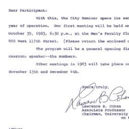 Announcements, 1963-10-23. ...