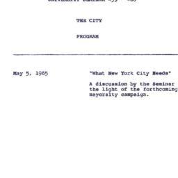Announcements, 1965-05-05. ...