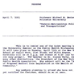 Announcements, 1965-04-07. ...