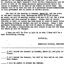 Announcements, 1971-03-09. ...