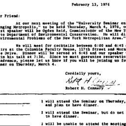 Announcements, 1976-02-13. ...