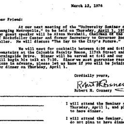 Announcements, 1976-03-12. ...