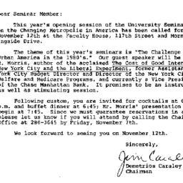 Announcements, 1980-10-27. ...
