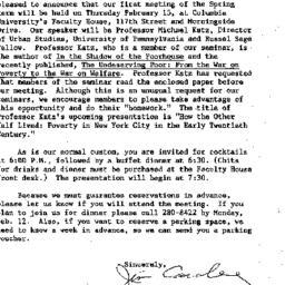 Announcements, 1990-01-22. ...