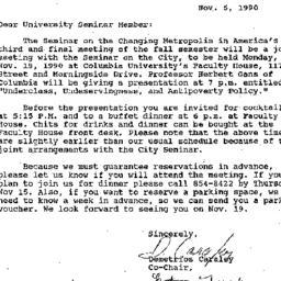 Announcements, 1990-11-05. ...