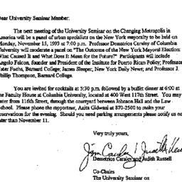 Announcements, 1993-10-27. ...