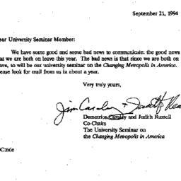 Announcements, 1994-09-21. ...