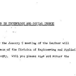Announcements, 1964-01-09. ...