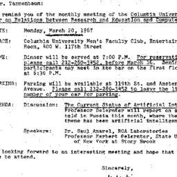 Correspondence, 1967-03-07....