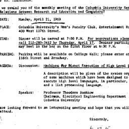 Correspondence, 1969-04-01....