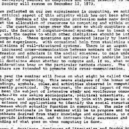 Announcements, 1973-11-28. ...