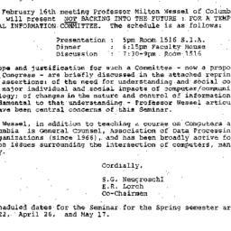 Announcements, 1984-02-07. ...