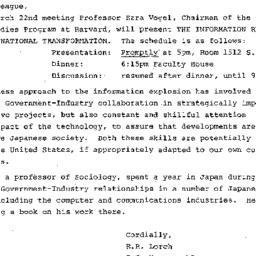 Announcements, 1984-03-07. ...