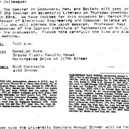 Announcements, 1989-03-23. ...