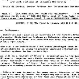 Announcements, 1990-11-15. ...