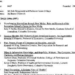 Schedules, Knowledge, Techn...