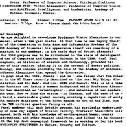 Announcements, 1999-04-14. ...