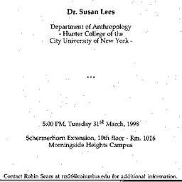 Announcements, 1998-03-31. ...