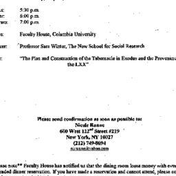 Announcements, 2000-05-17. ...